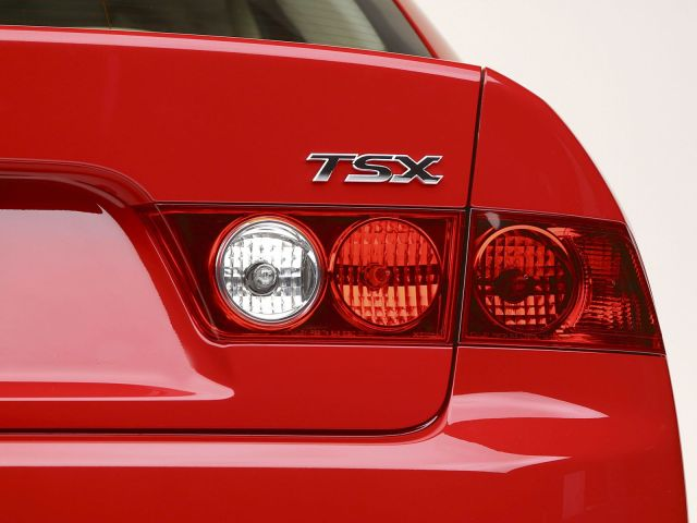 Back light view red awesome Acura TSX car