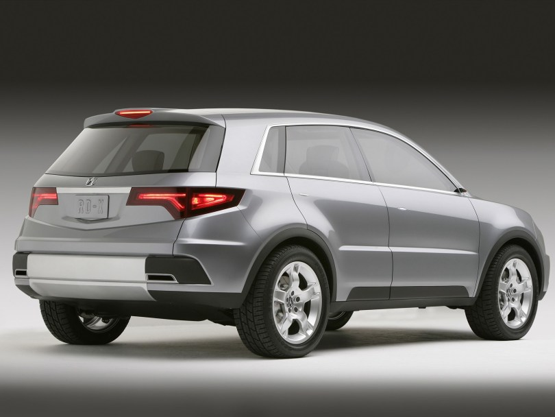 Back or left side view of best silver Acura RDX Concept Car