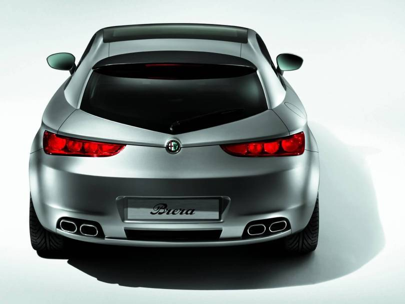 Back side of beautiful Silver Alfa Romeo Brera Car