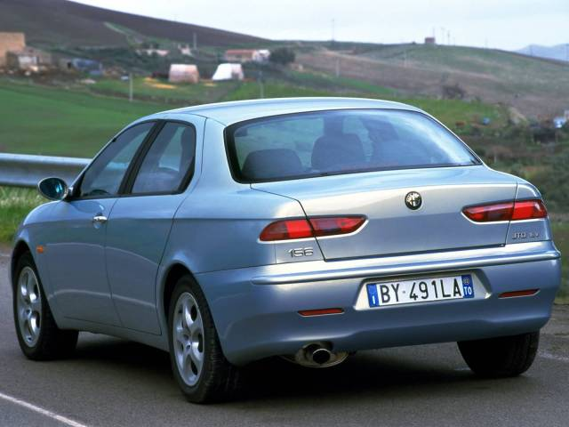 Back side of Alfa Romeo 156 Car on the road