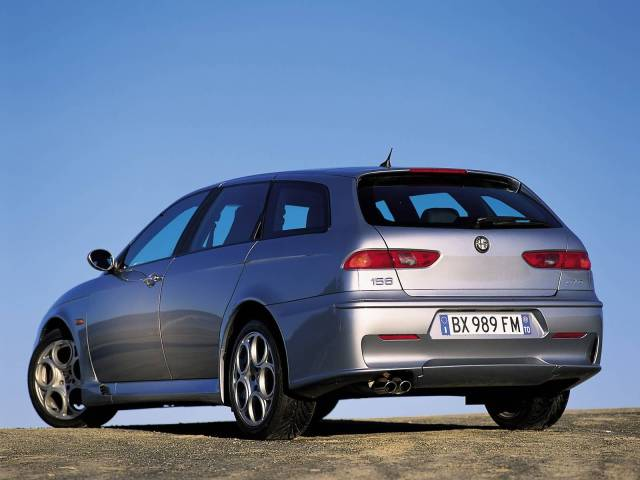 Back side of silver Alfa Romeo 156 GTA Car
