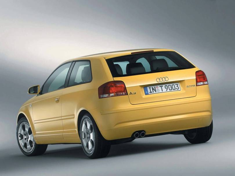 Back side view of best Audi A3 car