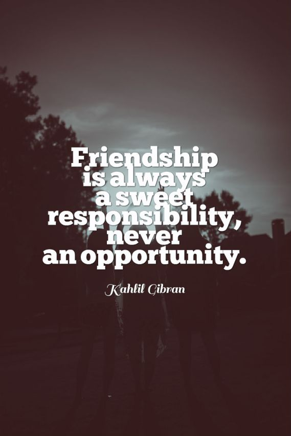 Bae Quotes Friendship Is Not An Opportunity It's An Responsibility