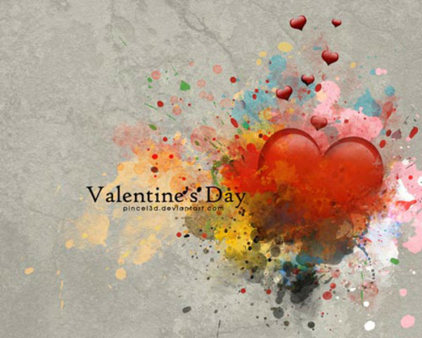 Beautiful Heart Happy Valentine Day Wallpaper