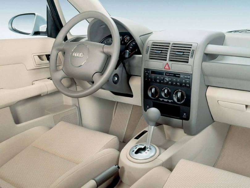 Beautiful Interior View of white Audi A2 car