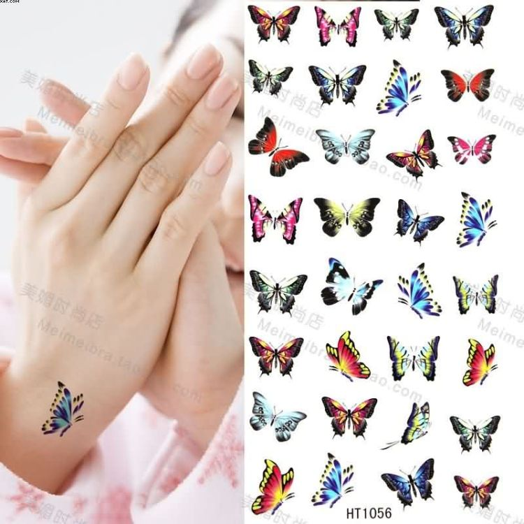 Beautiful Many Butterflies Tattoo Designs Samples For Wrist