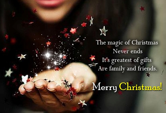 Beautiful Merry Christmas Wishes For Friend