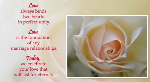 Beautiful Wedding Greeting Quotes Image