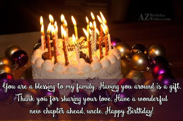 Beautiful Wishes Message For Uncle With Cake Image