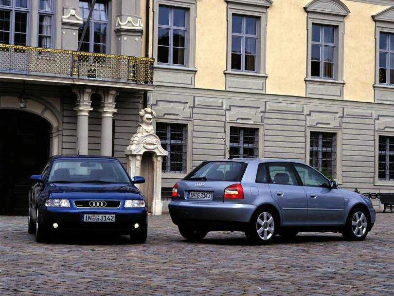Beautiful view 2 Audi A3 cars