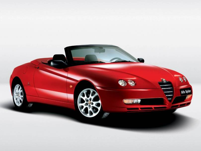 Beautiful Red Alfa Romeo Spyder Car