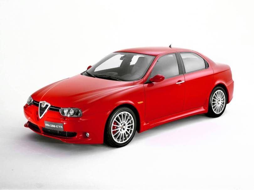Beautiful red Alfa Romeo 156 GTA Car
