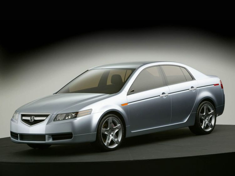 Beautiful silver Acura TL Concept Car