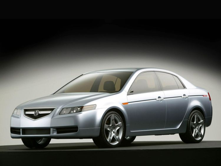 Beautiful silver color Acura TL Concept Car