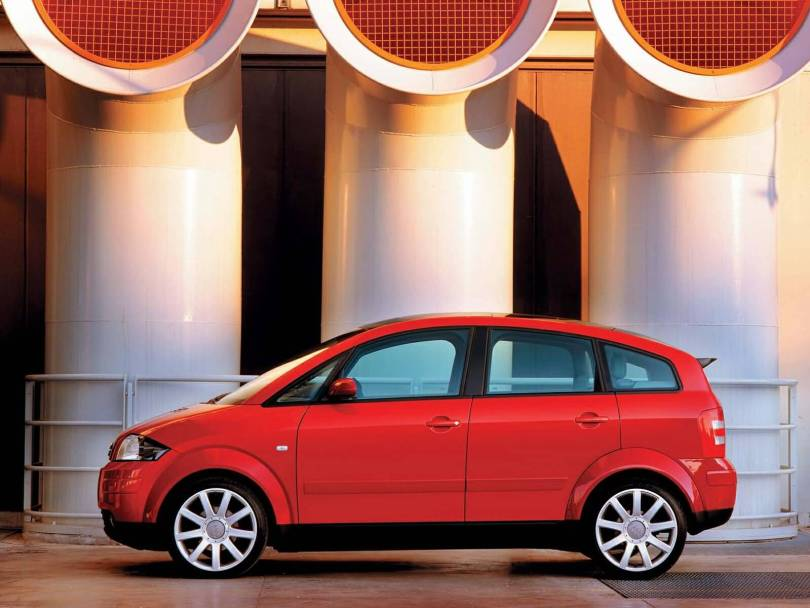 Beautiful view Red Audi A2 car
