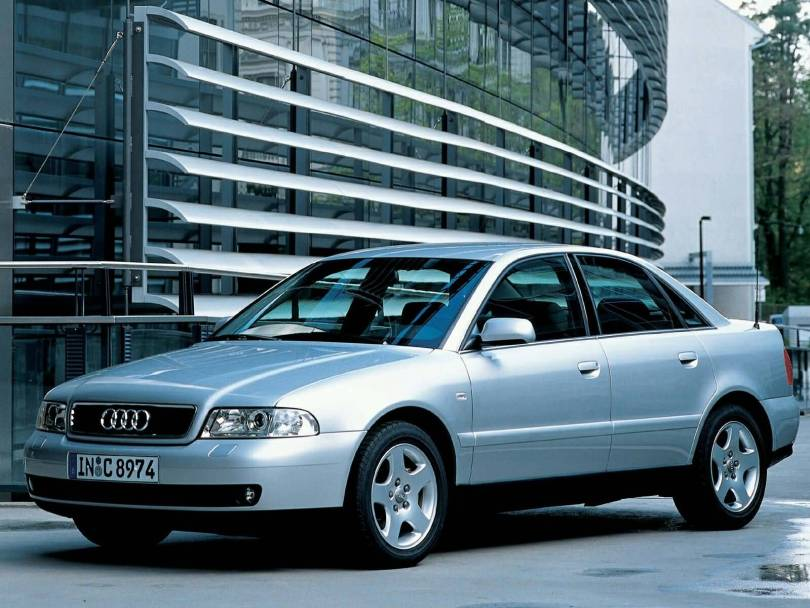 Beautiful view of Audi A4 Older car