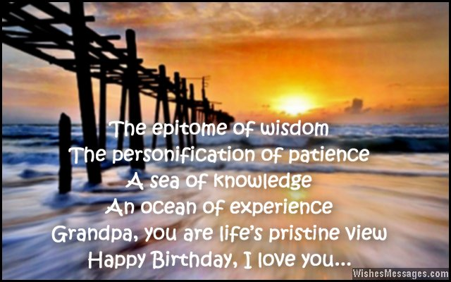 Best Grandpa Birthday Quotes & Message Image