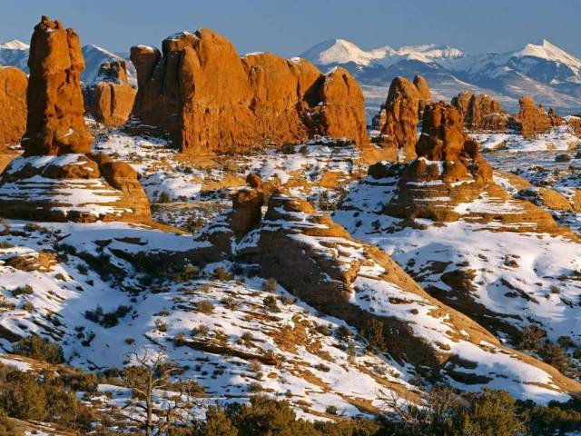 Best Parade of Elephants Arches National Park Utah 4K Wallpaper