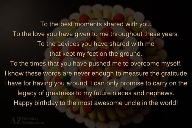 Best Uncle Birthday Wishes Message Image
