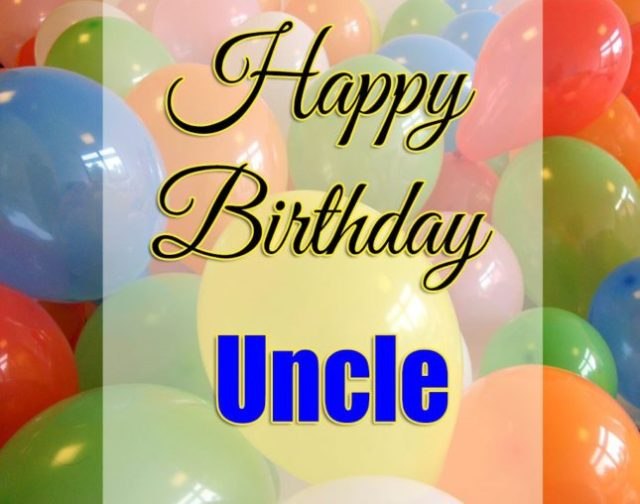 Best Uncle Birthday Wishes Image