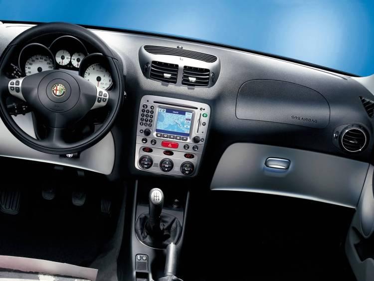 Black front Inside of Alfa Romeo 147 Car