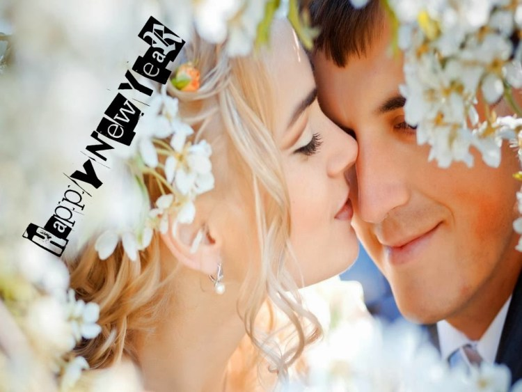 Bride Wishes Happy New Year Image