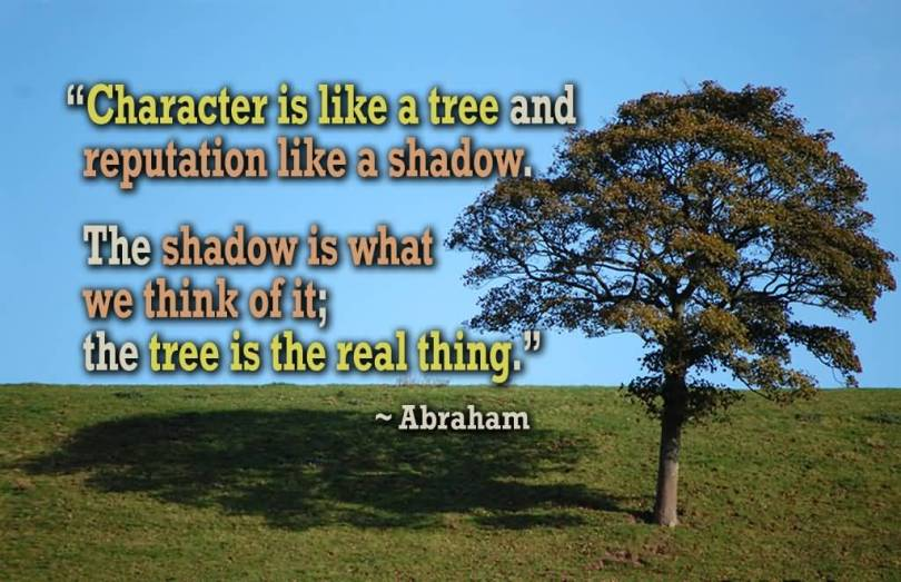 Character Quotes Character Is Like A Tree