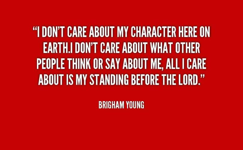 Character Quotes I Don't Care
