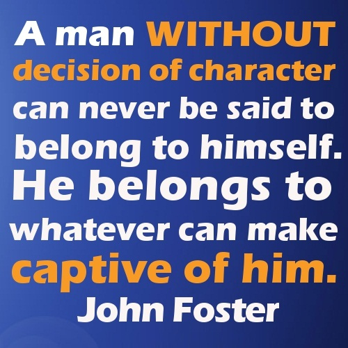 Character Sayings A Man Without