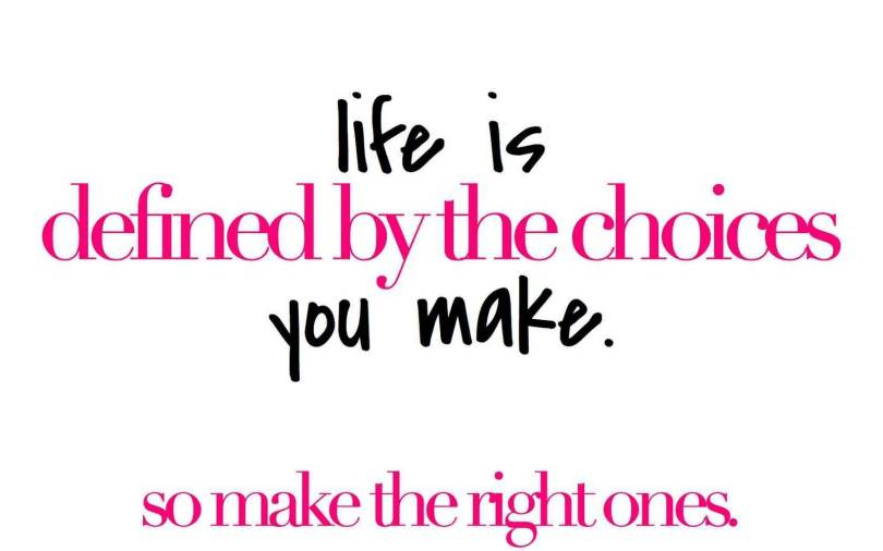 Choice Quotes Life Is Defined