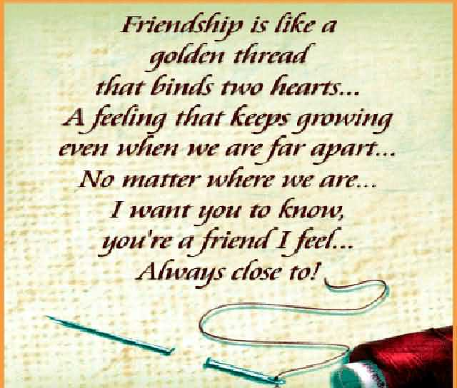 Close Friend Wishes Quotes Happy Friendship Day Image