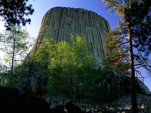 Cool Devil's Tower National Monument Wyoming 4K Wallpaper