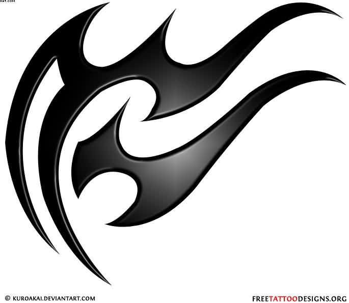 Crazy Black Color Ink Aquarius Sign Tattoo For Boys