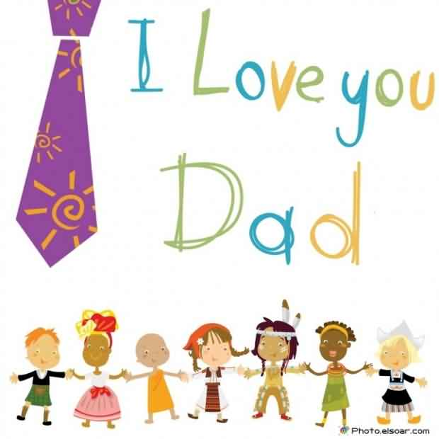 Cute Happy Father's Day Wishes Card