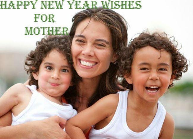 Cute Happy New Year Wishes I Love You Mom Image