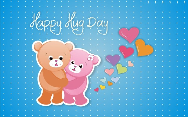 Cute Tedding Wishes Happy Hug Day