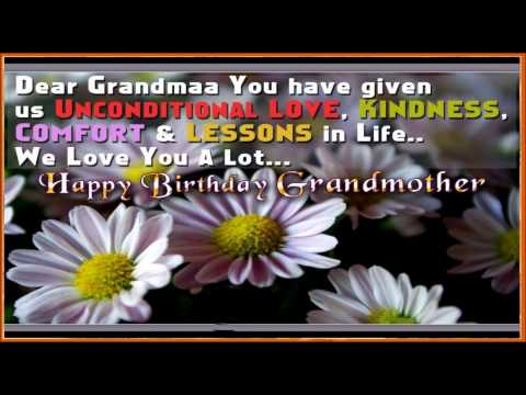 Dear Grandma Happy Birthday Message Image