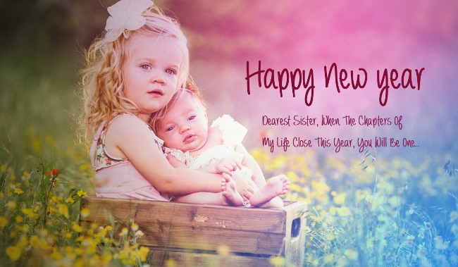 Dearest Sister Happy New Year Beautiful Wishes Image