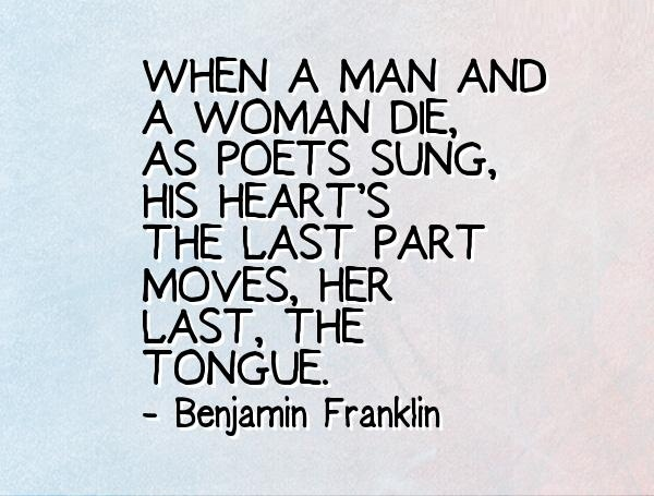 Die Quotes When men and woman die