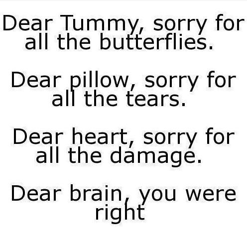 Divorce Quotes Dear tummy sorry for all the butterflies