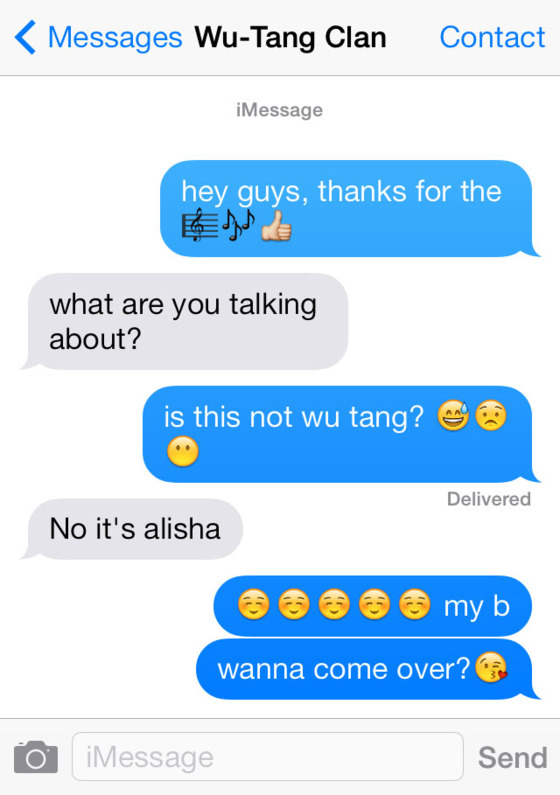Emoji Quotes Hey guys thanks for the what are you talking about is this not wu tang no it's alisha