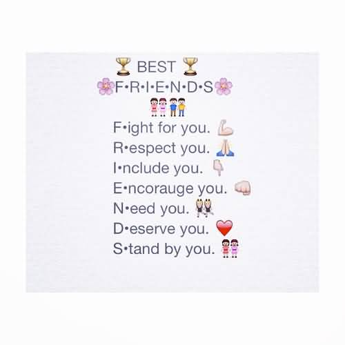 Emoji Sayings Best friends fight for