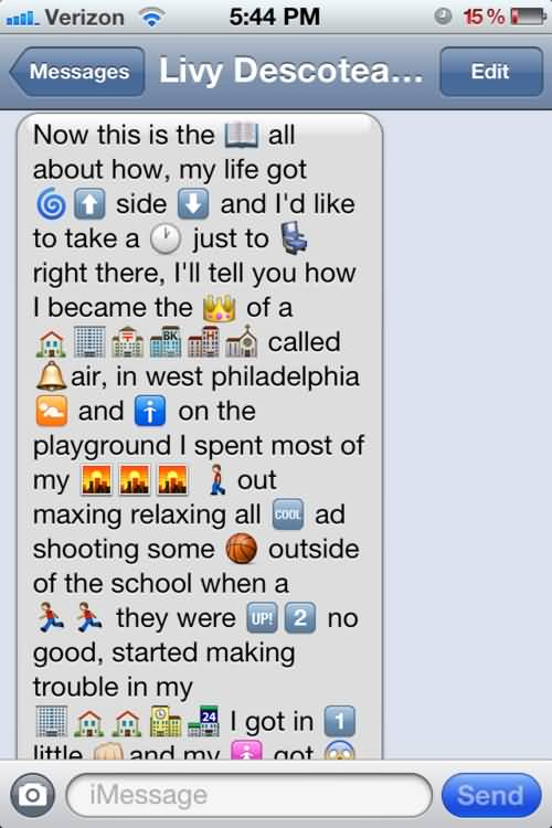 Emoji Sayings Now this is the all about how my life got side and i'd like to take a just to right there