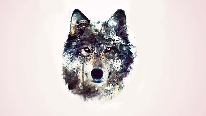 simple wolf design