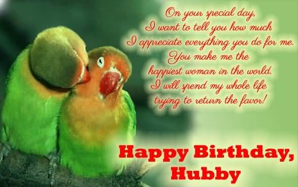 Fantastic Happy Birthday Hubby Wishes Image