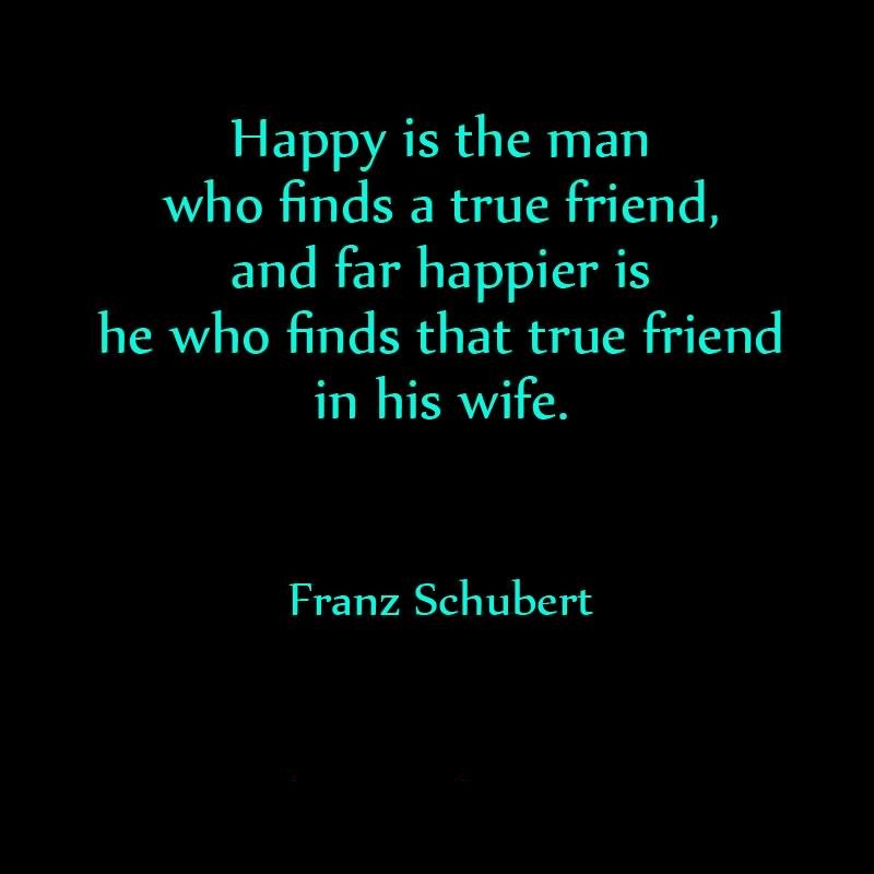 Friends Quotes Happy is the man who finds a true friend