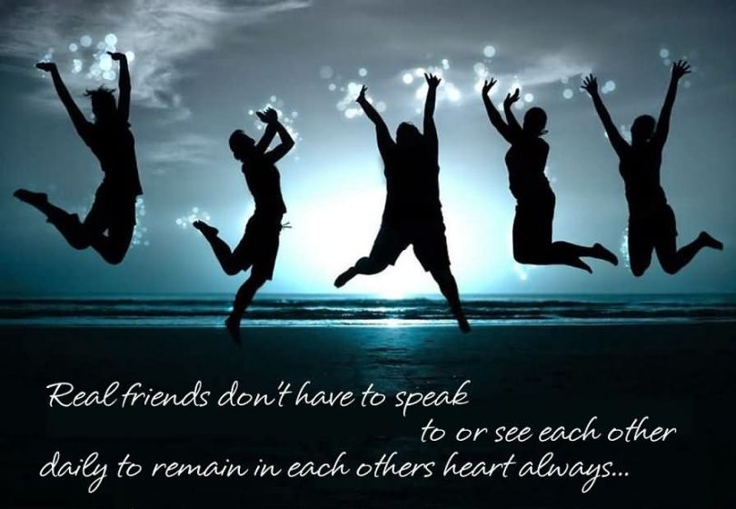 Friends Quotes Real friends dont have to speak daily to remain in each other daily to remain in each others heart always