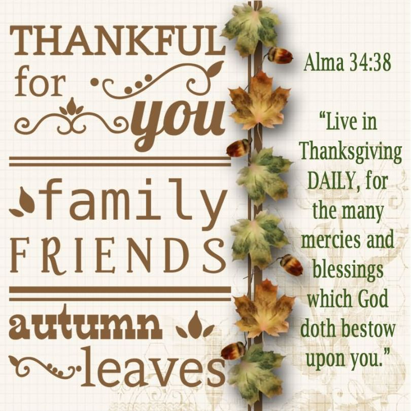Friends Quotes Thankful for you family friends autumn leaves