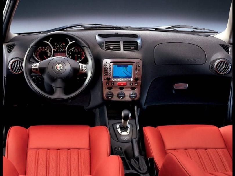 Front Black Inner side of beautiful Alfa Romeo 147 Car