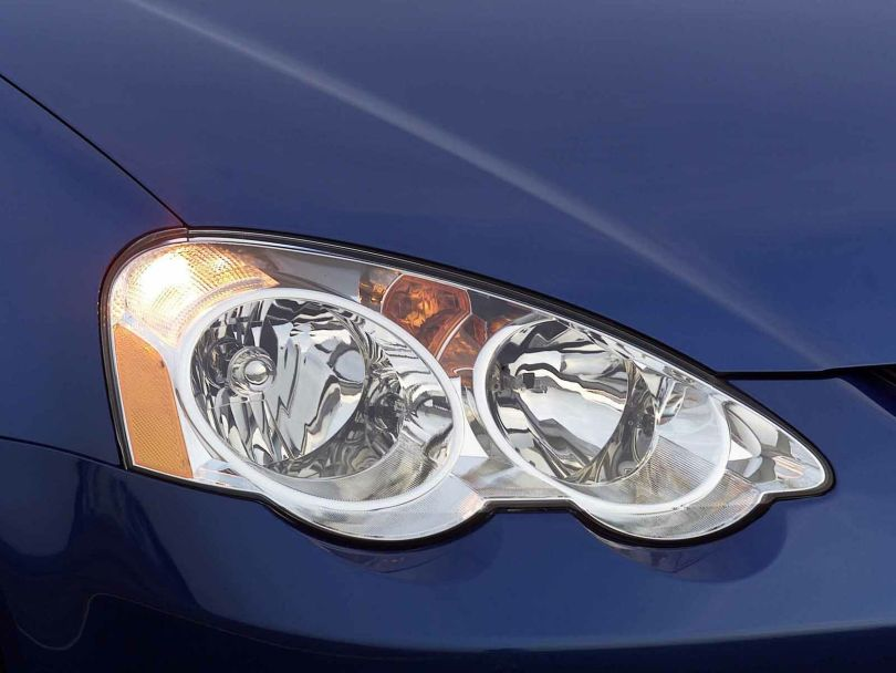 Front light of beautiful blue Acura RSX Car